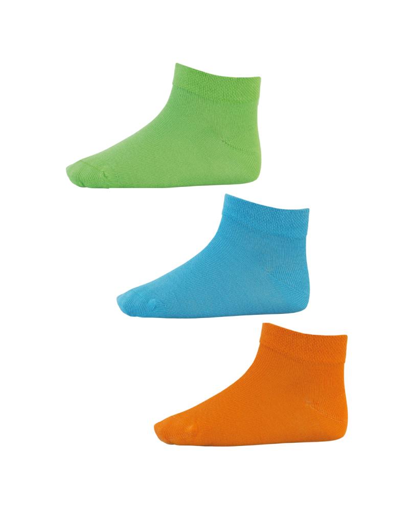 Pack de 3 soquetes em cores sortidas